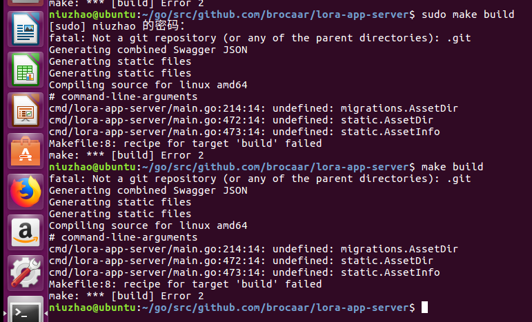 Compiling the LoRa App Server source-code - LoRa App Server