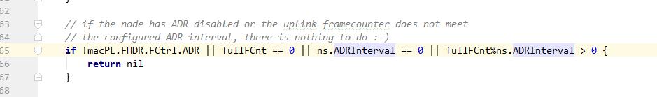 OTAA模式下不支持ADR功能