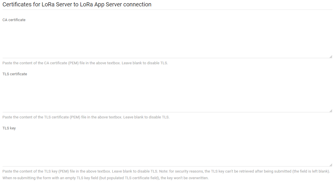 Tls Certificates For Lora Server Components Setup And