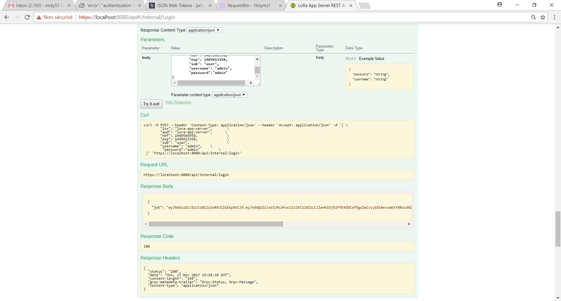 Sending/receiving the data payload - LoRa App Server - LoRa Server forum