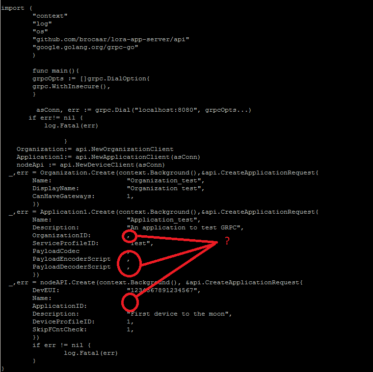 gRPC Application Service Client stream error - LoRa App