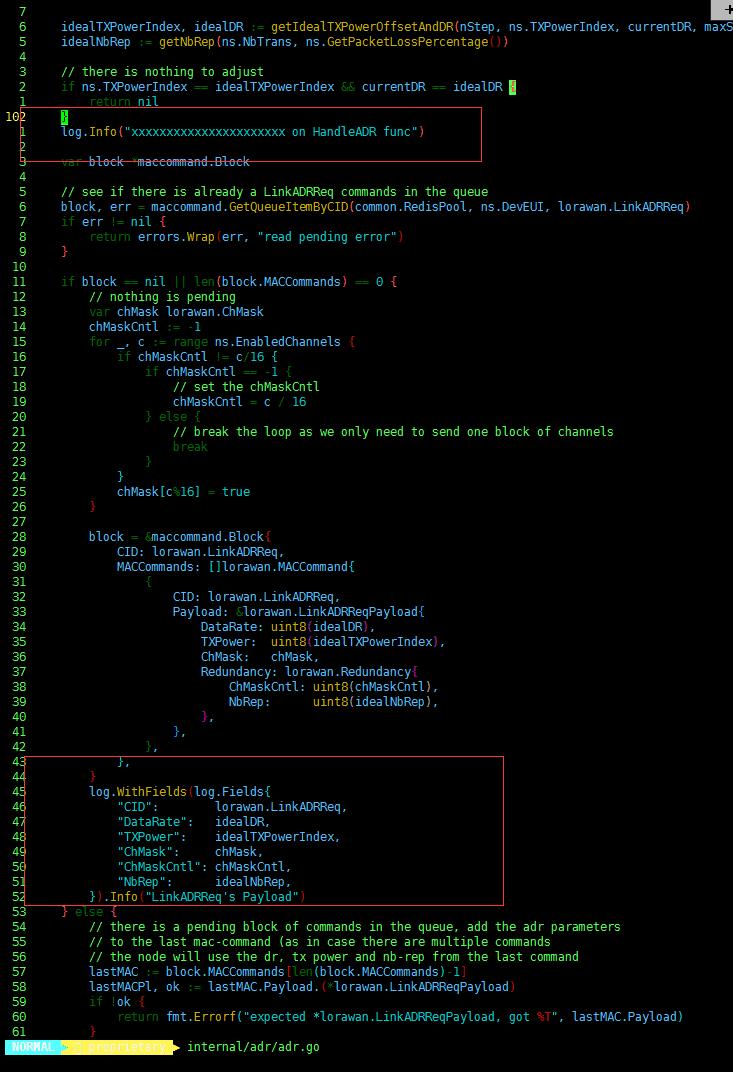 LinkADRReq mac-command