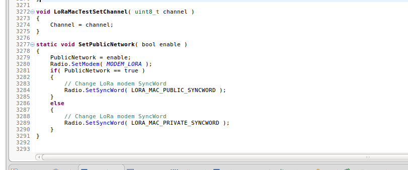 Relation between Sync Word, Private Network and End-Nodes