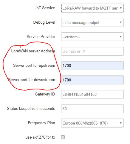 Dragino setup for LoRa Server - Setup and configuration